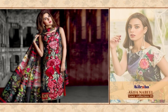 KILRUBA ASIFA NABEEL LAWN COLLECTION 19 COTTON PAKISTANI CONCEPT OF SUITS WHOLESALE DEALER BEST RATE BY GOSIYA EXPORTS SURAT (8)