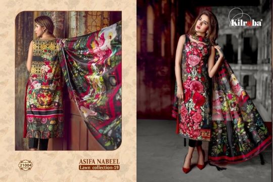 KILRUBA ASIFA NABEEL LAWN COLLECTION 19 COTTON PAKISTANI CONCEPT OF SUITS WHOLESALE DEALER BEST RATE BY GOSIYA EXPORTS SURAT (9)