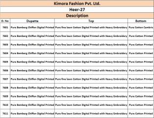 Kimora heer 27 cotton lawn salwar kameez collection BY GOSIYA EXPORTS (23)