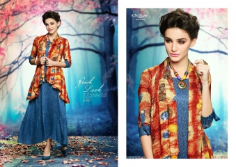 KRISHRIYAA AURA VOL 5 CATALOGUE RAYON PRINTS LONG KURTIS PARTY WEAR COLLECTION WHOLESALE (1)