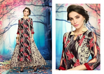 KRISHRIYAA AURA VOL 5 CATALOGUE RAYON PRINTS LONG KURTIS PARTY WEAR COLLECTION WHOLESALE (2)