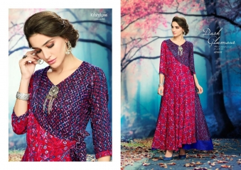 KRISHRIYAA AURA VOL 5 CATALOGUE RAYON PRINTS LONG KURTIS PARTY WEAR COLLECTION WHOLESALE (6)