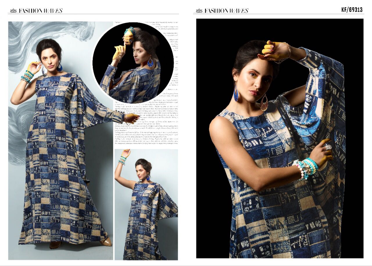 8f325c3d5f KRISHRIYAA FASHION WAVES CATALOGUE STYLIST MAXI DRESSES COLLECTION  WHOLESALE DEALER BEST RATE BY GOSIYA EXPORTS SURAT