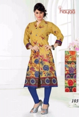 Kriti Trendy prints on cotton kurtis WHOLESALE BEST RATE BY GOSIYA EXPORTS