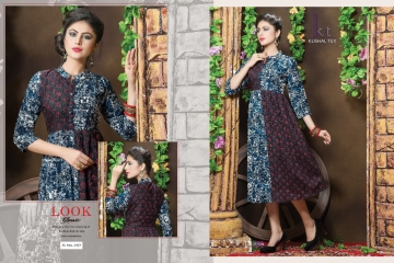 KUSHAL TEX FREPIC CATALOGUE RAYON PRINT DESIGNER WEAR KURTI (1)