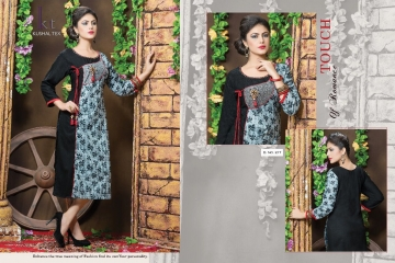 KUSHAL TEX FREPIC CATALOGUE RAYON PRINT DESIGNER WEAR KURTI (10)
