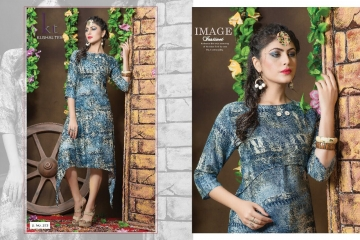 KUSHAL TEX FREPIC CATALOGUE RAYON PRINT DESIGNER WEAR KURTI (11)