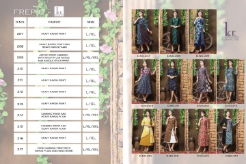 KUSHAL TEX FREPIC CATALOGUE RAYON PRINT DESIGNER WEAR KURTI (12)