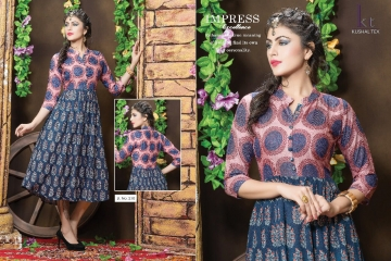 KUSHAL TEX FREPIC CATALOGUE RAYON PRINT DESIGNER WEAR KURTI (4)