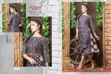 KUSHAL TEX FREPIC CATALOGUE RAYON PRINT DESIGNER WEAR KURTI (6)
