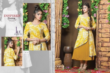 KUSHAL TEX FREPIC CATALOGUE RAYON PRINT DESIGNER WEAR KURTI (7)