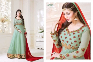LAVINA ROOHANI VOL 4 GEORGETTE ANARKALI SUIT COLLECTION WHOLESALE BEST RATE BY GOSIYA EXPORTS SURAT (1)