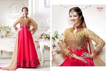 LAVINA ROOHANI VOL 4 GEORGETTE ANARKALI SUIT COLLECTION WHOLESALE BEST RATE BY GOSIYA EXPORTS SURAT (10)