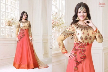 LAVINA ROOHANI VOL 4 GEORGETTE ANARKALI SUIT COLLECTION WHOLESALE BEST RATE BY GOSIYA EXPORTS SURAT (3)