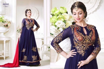LAVINA ROOHANI VOL 4 GEORGETTE ANARKALI SUIT COLLECTION WHOLESALE BEST RATE BY GOSIYA EXPORTS SURAT (4)