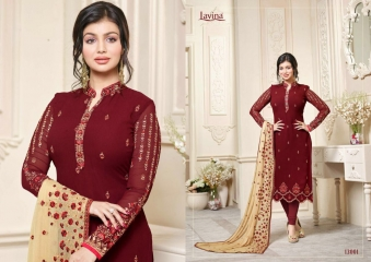 LAVINA VOL 13 CATALOGUE DESIGNER WEAR COLLECTION WHOLESALE SUPPLIER BEST RATE BY GOSIYA EXPORTS SURAT (1)