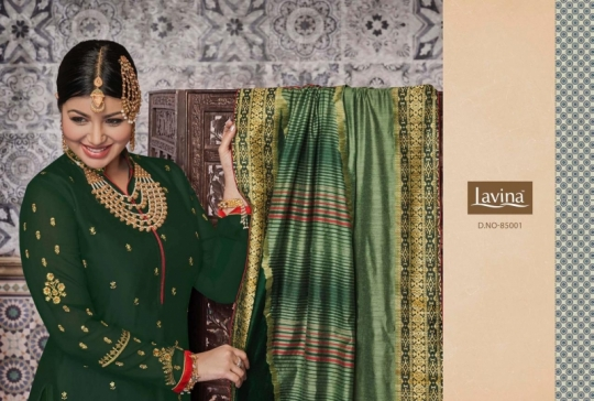 LAVINA VOL 85 GEORGETTE FABRIC WITH EMBROIDERY WORK SALWAR SUIT WHOLESALE DEALER BEST RATE BY GOSIYA EXPORTS SURAT (1)