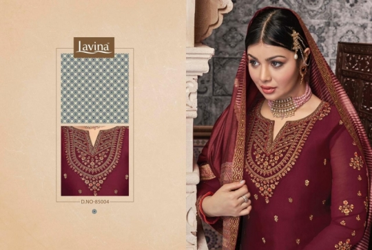LAVINA VOL 85 GEORGETTE FABRIC WITH EMBROIDERY WORK SALWAR SUIT WHOLESALE DEALER BEST RATE BY GOSIYA EXPORTS SURAT (10)