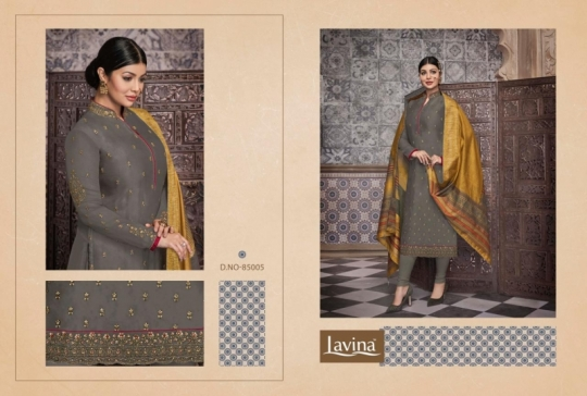 LAVINA VOL 85 GEORGETTE FABRIC WITH EMBROIDERY WORK SALWAR SUIT WHOLESALE DEALER BEST RATE BY GOSIYA EXPORTS SURAT (2)