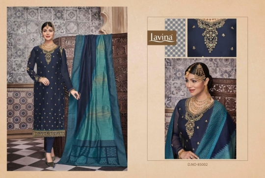 LAVINA VOL 85 GEORGETTE FABRIC WITH EMBROIDERY WORK SALWAR SUIT WHOLESALE DEALER BEST RATE BY GOSIYA EXPORTS SURAT (3)