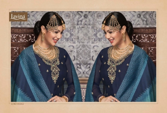 LAVINA VOL 85 GEORGETTE FABRIC WITH EMBROIDERY WORK SALWAR SUIT WHOLESALE DEALER BEST RATE BY GOSIYA EXPORTS SURAT (4)