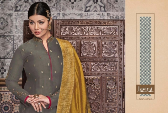 LAVINA VOL 85 GEORGETTE FABRIC WITH EMBROIDERY WORK SALWAR SUIT WHOLESALE DEALER BEST RATE BY GOSIYA EXPORTS SURAT (6)