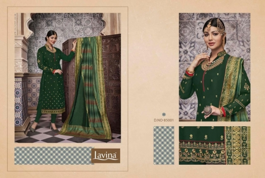 LAVINA VOL 85 GEORGETTE FABRIC WITH EMBROIDERY WORK SALWAR SUIT WHOLESALE DEALER BEST RATE BY GOSIYA EXPORTS SURAT (7)