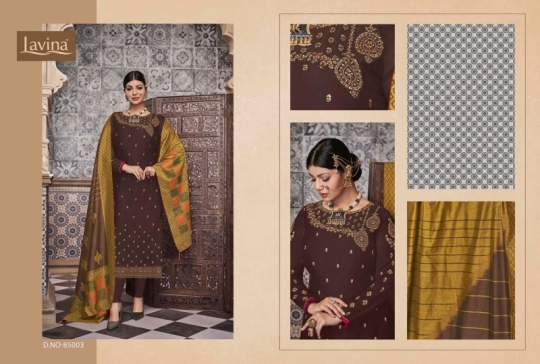 LAVINA VOL 85 GEORGETTE FABRIC WITH EMBROIDERY WORK SALWAR SUIT WHOLESALE DEALER BEST RATE BY GOSIYA EXPORTS SURAT (8)