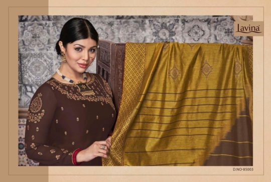 LAVINA VOL 85 GEORGETTE FABRIC WITH EMBROIDERY WORK SALWAR SUIT WHOLESALE DEALER BEST RATE BY GOSIYA EXPORTS SURAT (9)