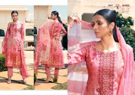 LEVISHA PRESENTS MAUSIN PASMINA FABRIC WITH EMBROIDERY WORK SALWAR SUIT WHOLESALE DEALER BEST RATE BY GOSIYA EXPORTS SURAT (1)