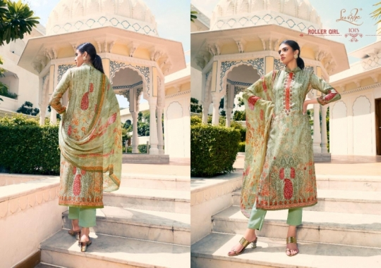 LEVISHA PRESENTS MAUSIN PASMINA FABRIC WITH EMBROIDERY WORK SALWAR SUIT WHOLESALE DEALER BEST RATE BY GOSIYA EXPORTS SURAT (10)
