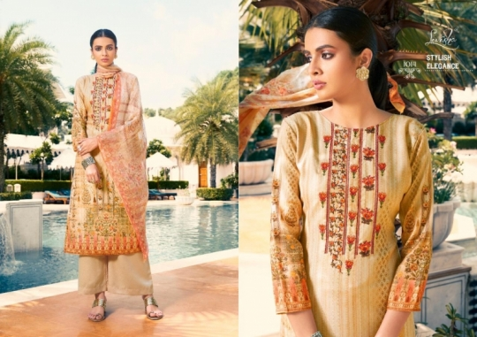 LEVISHA PRESENTS MAUSIN PASMINA FABRIC WITH EMBROIDERY WORK SALWAR SUIT WHOLESALE DEALER BEST RATE BY GOSIYA EXPORTS SURAT (4)