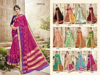LIFESTYLE HANSIKA VOL 3 PARTY WEAR SILKS SAREES WHOLESALE SUPPLIER BEST RATE BY GOSIYA EXPORTS SURAT (11)
