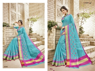 LIFESTYLE HANSIKA VOL 3 PARTY WEAR SILKS SAREES WHOLESALE SUPPLIER BEST RATE BY GOSIYA EXPORTS SURAT (2)