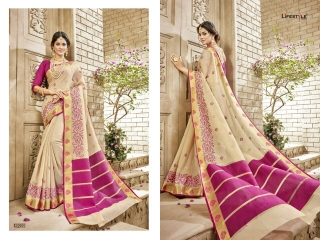 LIFESTYLE HANSIKA VOL 3 PARTY WEAR SILKS SAREES WHOLESALE SUPPLIER BEST RATE BY GOSIYA EXPORTS SURAT (3)