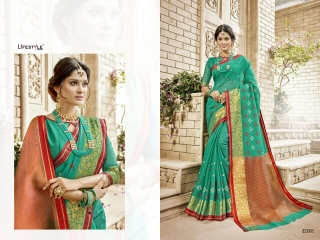 LIFESTYLE HANSIKA VOL 3 PARTY WEAR SILKS SAREES WHOLESALE SUPPLIER BEST RATE BY GOSIYA EXPORTS SURAT (9)