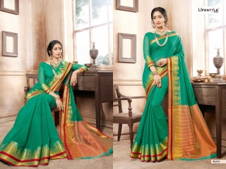 LIFESTYLE KHADI SILK VOL 10 WEAVING SILK DESIGNER SAREES CATALOG WHOLESALE BEST RATE BY GOSIYA EXPORTS FROM SURAT (3)