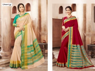 LIFESTYLE KHADI SILK VOL 10 WEAVING SILK DESIGNER SAREES CATALOG WHOLESALE BEST RATE BY GOSIYA EXPORTS FROM SURAT (4)