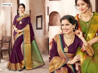 LIFESTYLE KHADI SILK VOL 10 WEAVING SILK DESIGNER SAREES CATALOG WHOLESALE BEST RATE BY GOSIYA EXPORTS FROM SURAT (5)