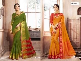 LIFESTYLE KHADI SILK VOL 10 WEAVING SILK DESIGNER SAREES CATALOG WHOLESALE BEST RATE BY GOSIYA EXPORTS FROM SURAT (7)