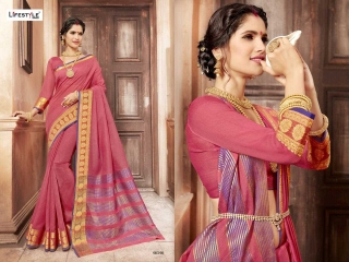 LIFESTYLE KHADI SILK VOL 10 WEAVING SILK DESIGNER SAREES CATALOG WHOLESALE BEST RATE BY GOSIYA EXPORTS FROM SURAT (9)