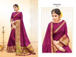 LIFESTYLE PALM SILK VOL 2 SILK SAREE CATALOG AT BEST RATE BY GOSIYA EXPORTS SURAT (3)