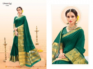 LIFESTYLE PALM SILK VOL 2 SILK SAREE CATALOG AT BEST RATE BY GOSIYA EXPORTS SURAT (4)