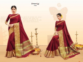 LIFESTYLE PALM SILK VOL 2 SILK SAREE CATALOG AT BEST RATE BY GOSIYA EXPORTS SURAT (5)