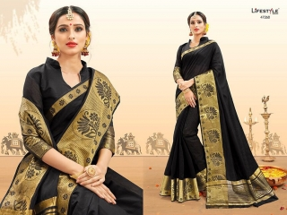 LIFESTYLE PALM SILK VOL 2 SILK SAREE CATALOG AT BEST RATE BY GOSIYA EXPORTS SURAT (7)