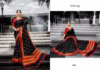 LIFESTYLE PATOLA SILK COTTON PRINT SILK SAREES WHOLESALE BEST RATE DEALER BY GOSIYA EXPORT SURAT (1)