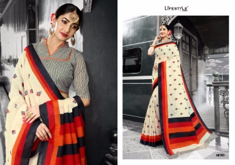 LIFESTYLE PATOLA SILK COTTON PRINT SILK SAREES WHOLESALE BEST RATE DEALER BY GOSIYA EXPORT SURAT (3)