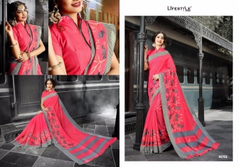 LIFESTYLE PATOLA SILK COTTON PRINT SILK SAREES WHOLESALE BEST RATE DEALER BY GOSIYA EXPORT SURAT (5)
