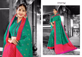 LIFESTYLE PATOLA SILK COTTON PRINT SILK SAREES WHOLESALE BEST RATE DEALER BY GOSIYA EXPORT SURAT (6)