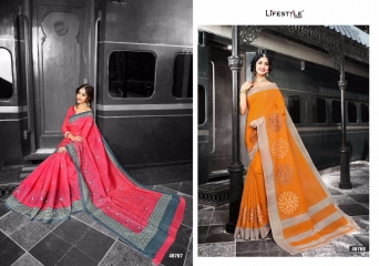 LIFESTYLE PATOLA SILK COTTON PRINT SILK SAREES WHOLESALE BEST RATE DEALER BY GOSIYA EXPORT SURAT (7)